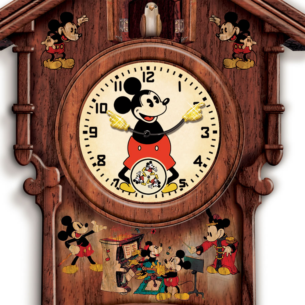 The mickey mouse cuckoo clock hammacher schlemmer How to make a cuckoo clock