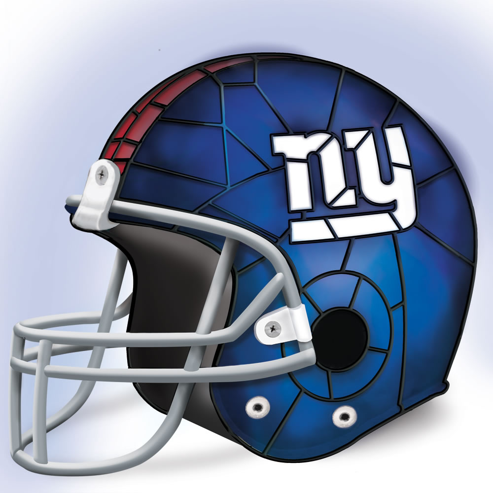 The New York Giants Football Helmet Lamp2