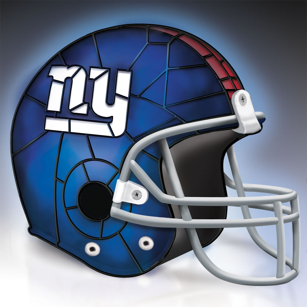 The New York Giants Football Helmet Lamp3