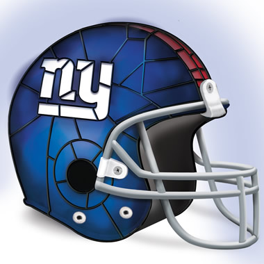 The New York Giants Football Helmet Lamp.