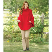 The Hawick Cashmere Hooded Poncho.