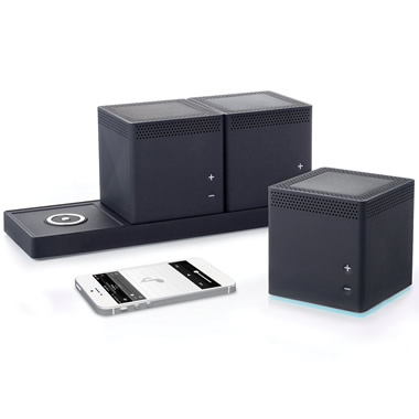 The Three Room Wireless Speaker System.