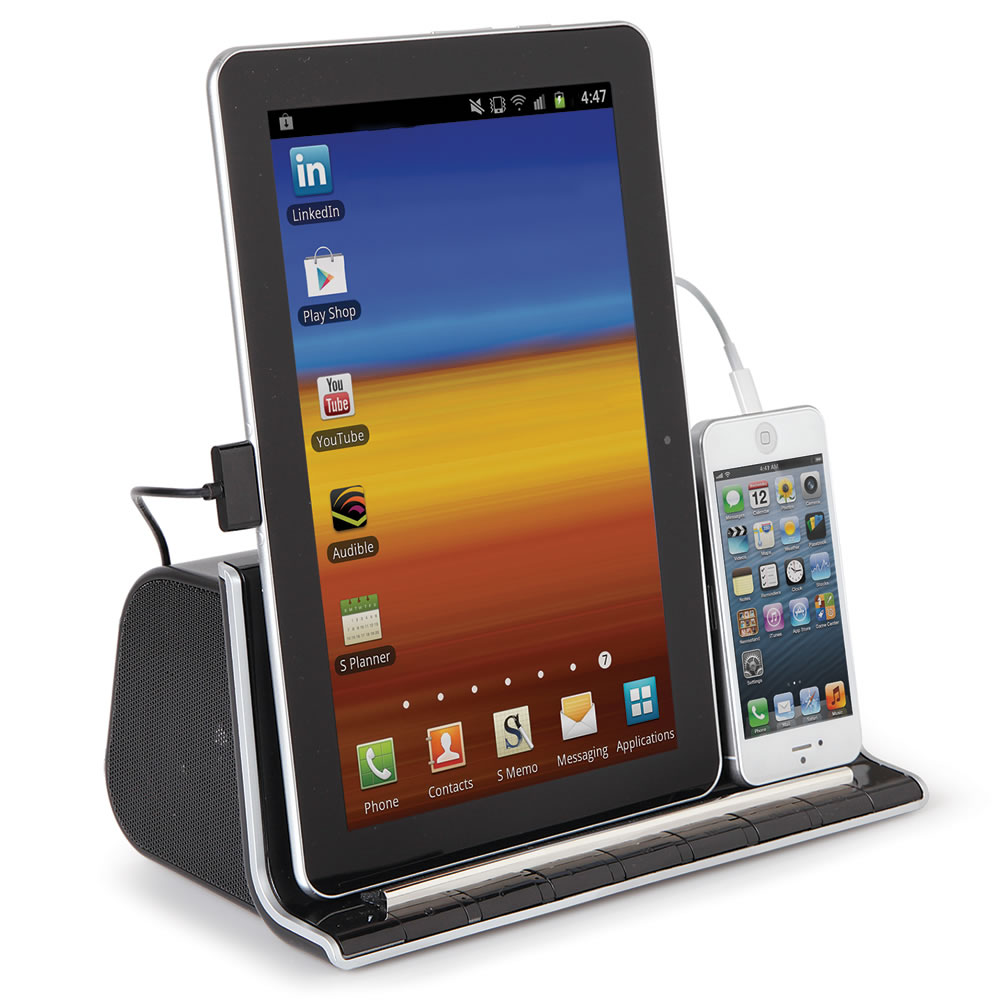 The Smartphone And Tablet Charging Speaker Dock2