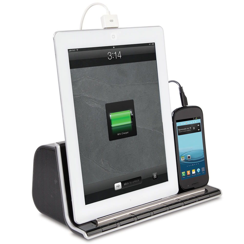 The Smartphone And Tablet Charging Speaker Dock1