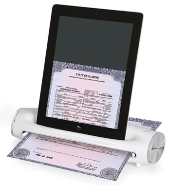 The Preserve Your Memories iPad Scanner.