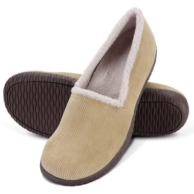The Lady's Indoor/Outdoor Plantar Fasciitis Closed Back Slippers.