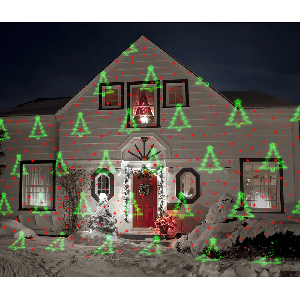 The Virtual Christmas Display Laser Light Projector - Hammacher ...