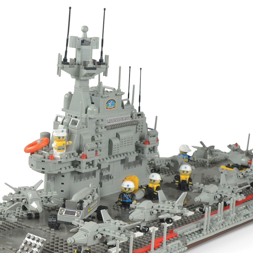 The 3 1/2-Foot Building Block Aircraft Carrier3