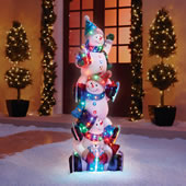 The 5' Illuminated Snowman Totem Pole.