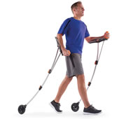 The Wheeled Nordic Walking Poles.