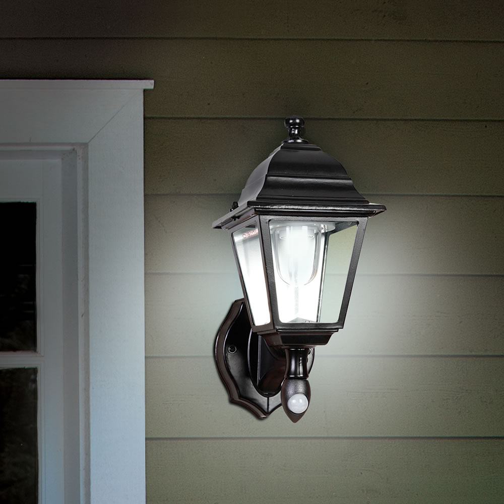 The Cordless Motion Activated Outdoor Sconce - Hammacher Schlemmer