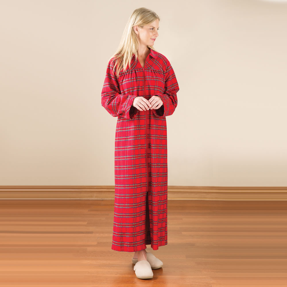 The Lady's Genuine Irish Flannel Zippered Duster1