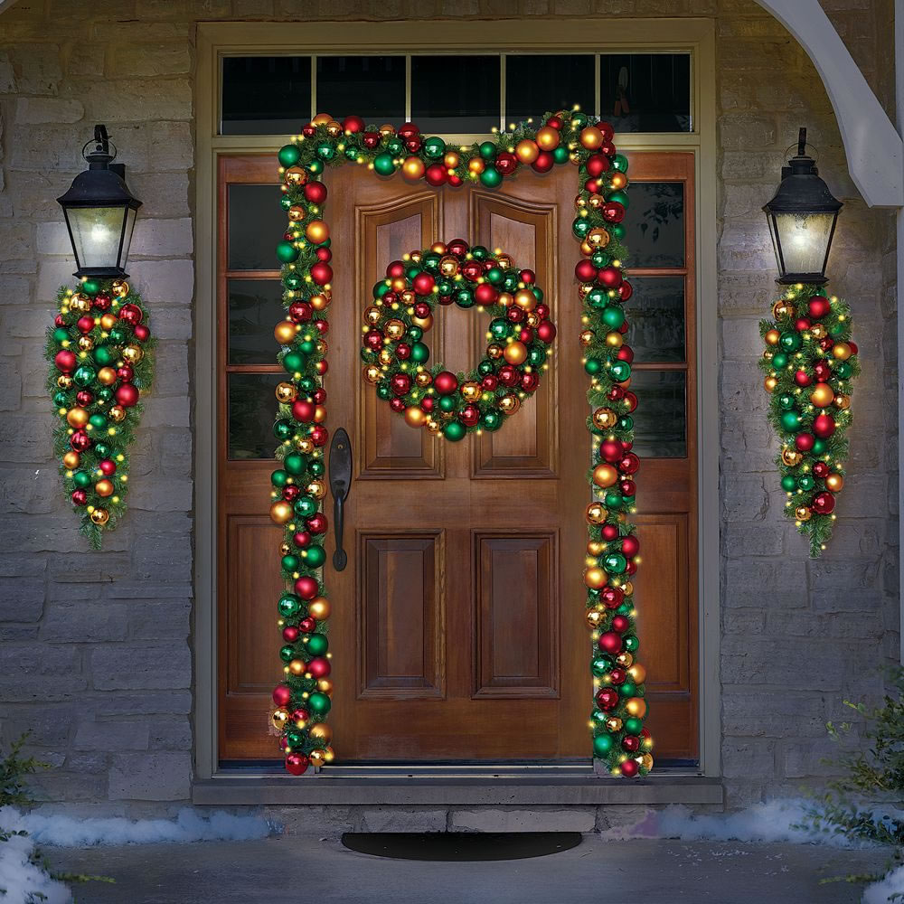 The Ornament Ball Cordless Prelit Garland3
