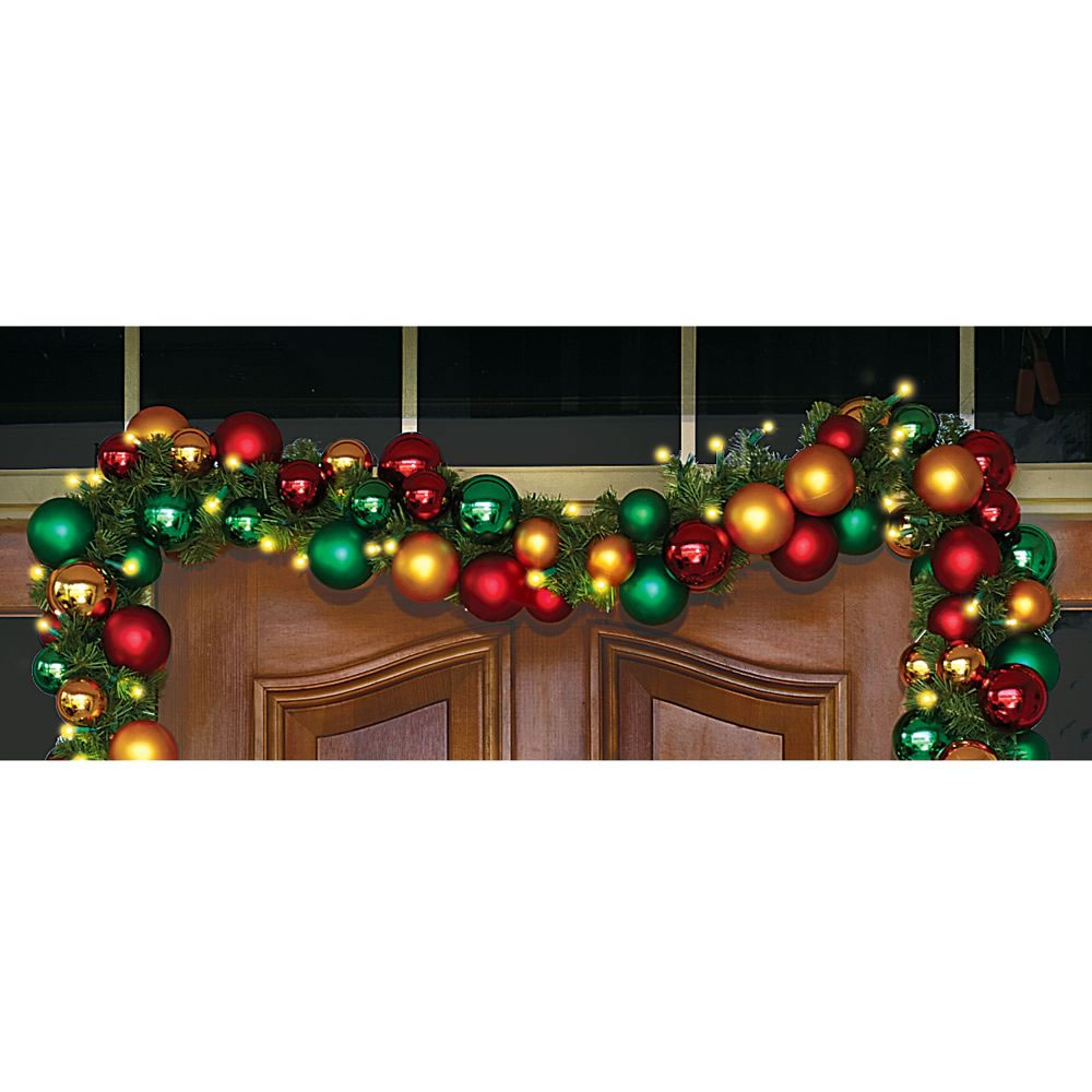 The Ornament Ball Cordless Prelit Garland 1