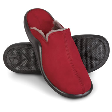 The Lady's Walk On Air Sheepskin Slippers.