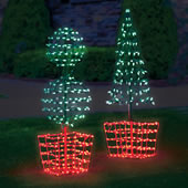 "The 62"" Twinkling Tree Topiary."