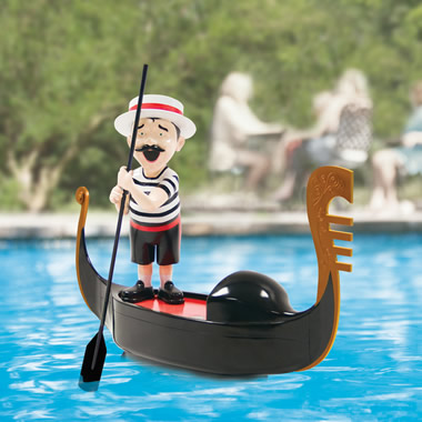 The Serenading Pool Gondolier.
