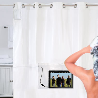 The iPad Musical Shower Curtain