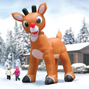 15' Animated Inflatable Rudolph