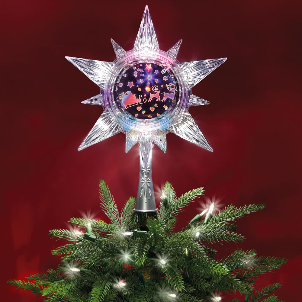 Nyc Christmas Tree Delivery: The Holographic Santa's Sleigh Tree Topper