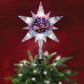 The Holographic Santa's Sleigh Tree Topper.