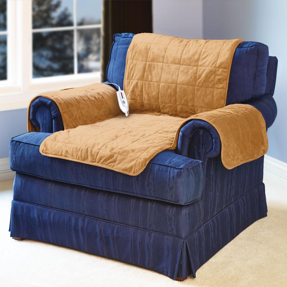 The Heated Furniture Cover Chair Hammacher Schlemmer