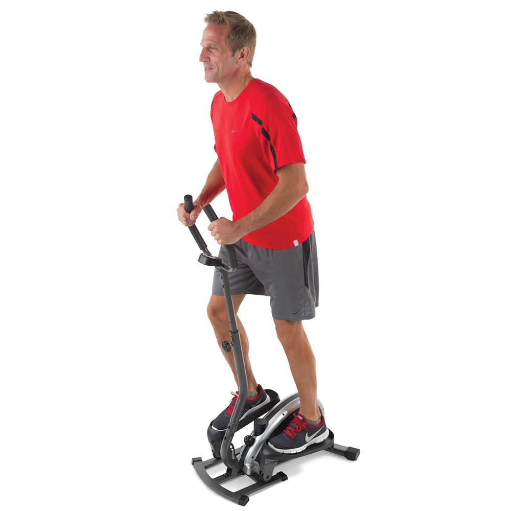 The Compact Elliptical Trainer Hammacher Schlemmer - Small elliptical for home