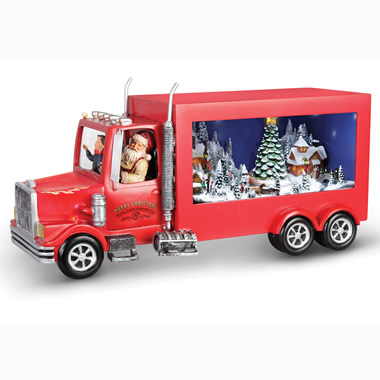 The Animated Santa's Delivery Truck.