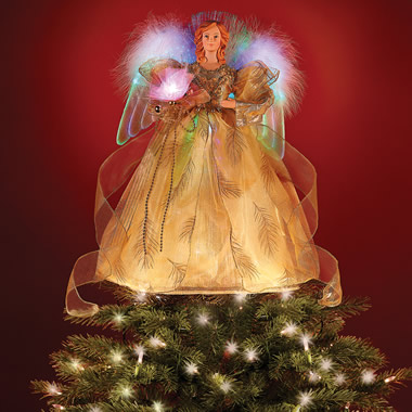 The Fiber Optic Angel Tree Topper.