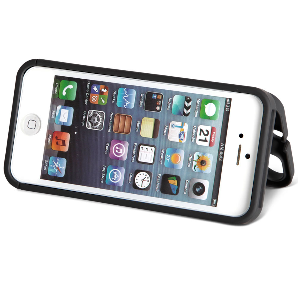 The iPhone 5/5s/SE Polycarbonate Wallet  (Black)2