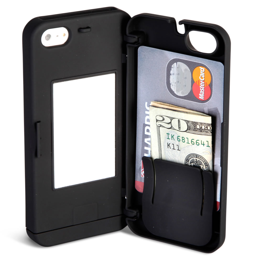 The iPhone 5/5s/SE Polycarbonate Wallet  (Black)4