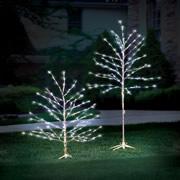 6 Foot Prelit Glistening Silver Branch Tree.