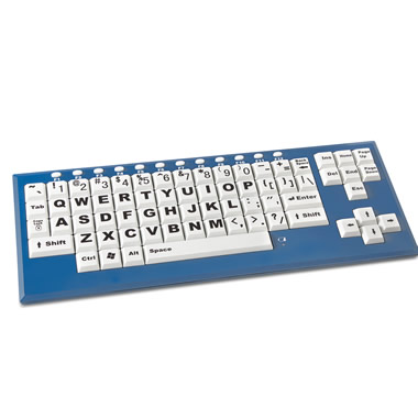 The High Visibility Wireless Keyboard.