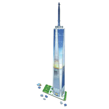 The 3D Freedom Tower Puzzle
