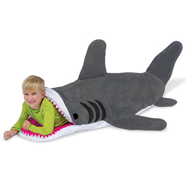 The Shark Bait Sleeping Bag.