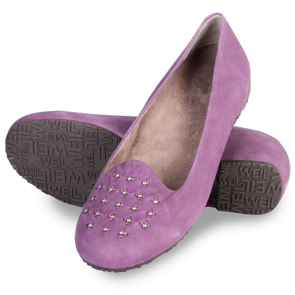 The Lady's Plantar Fasciitis Studded Flats1