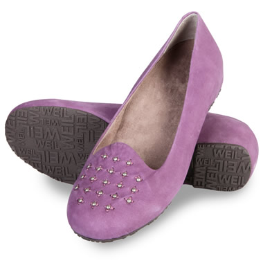 The Lady's Plantar Fasciitis Studded Flats.