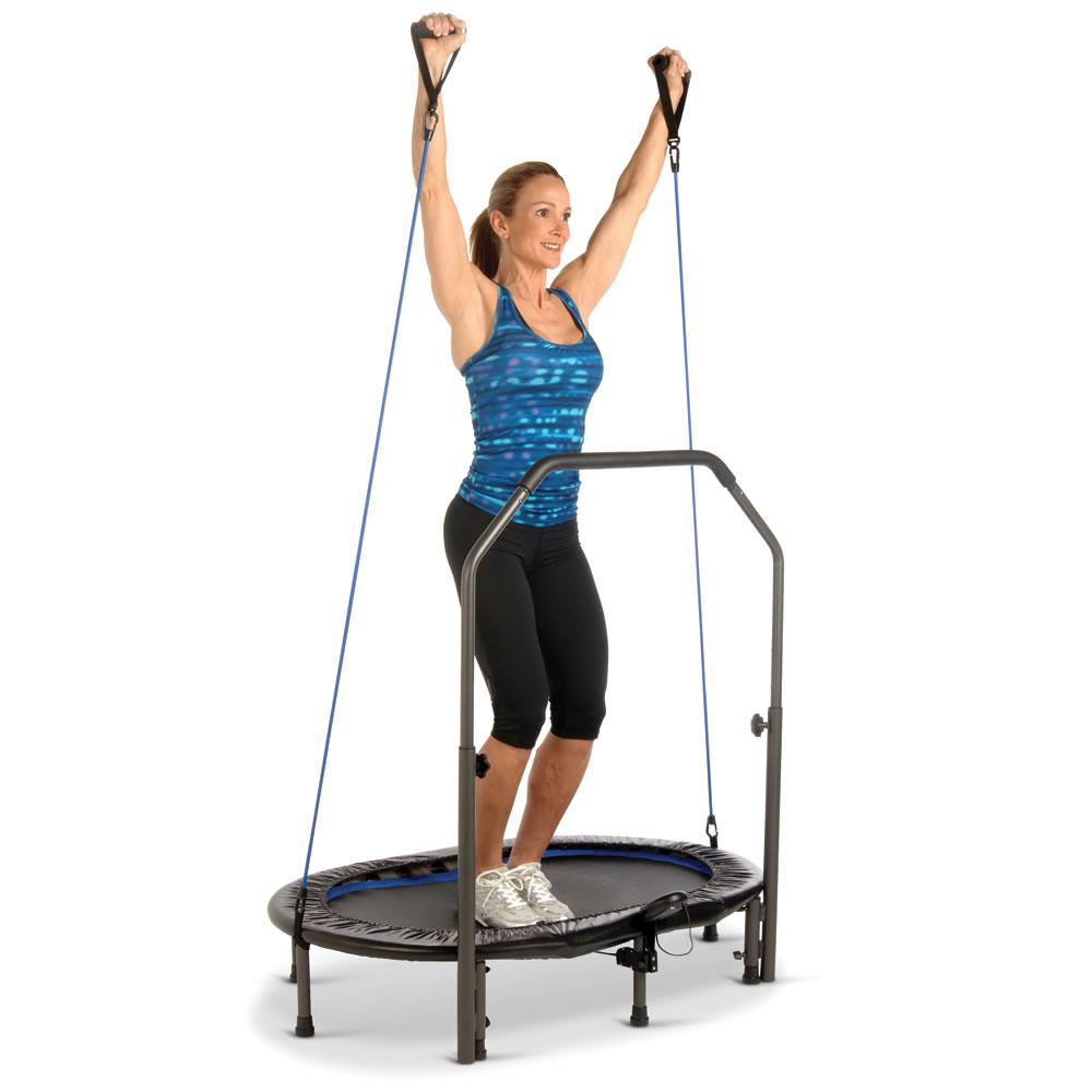 the low impact fitness trampoline hammacher schlemmer. Black Bedroom Furniture Sets. Home Design Ideas