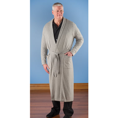 The Men's Washable Cashmere Robe.