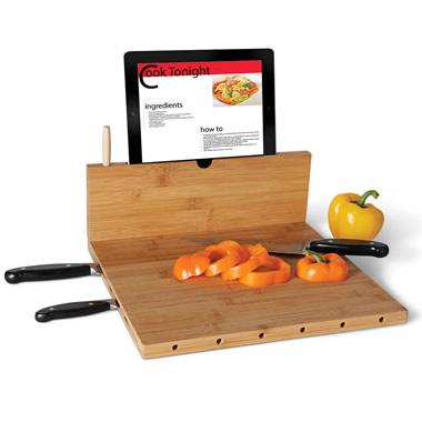 The iPad Recipe Cutting Board