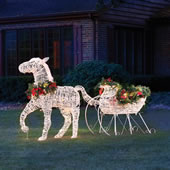 The Lighted Holiday Horse Drawn Sleigh.