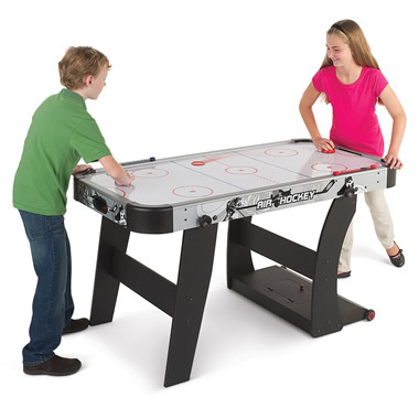 The Space Saving Air Hockey Table.