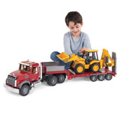 The Mack Truck With Backhoe Loader.