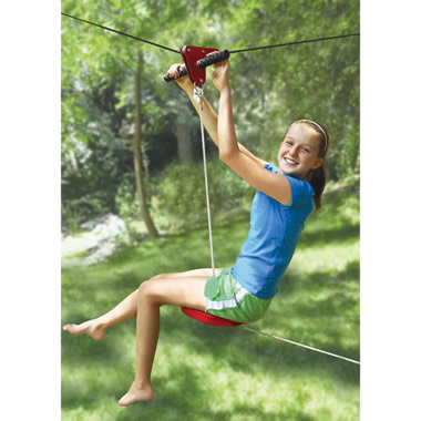 The Seated Backyard Zipline Kit.