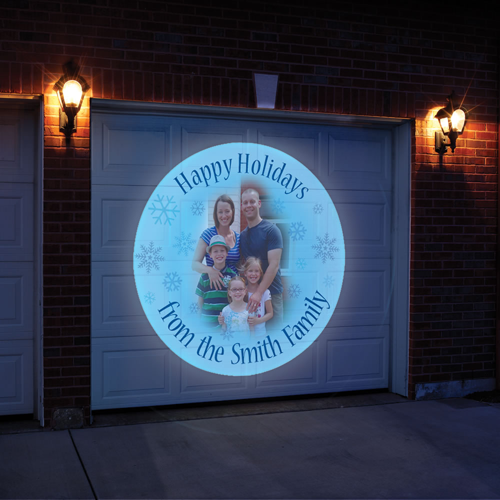 The Personalized Holiday Greeting Outdoor Projector 1