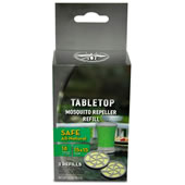 Two Additional Cartridges for The Portable Tabletop Mosquito Repeller.