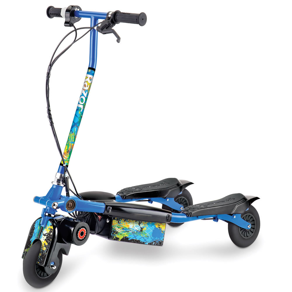 The Carving Electric Three Wheel Scooter Hammacher Schlemmer