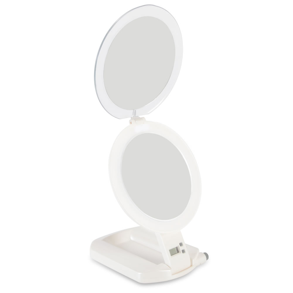 The 1X and 10X Flat Fold Travel Mirror 1