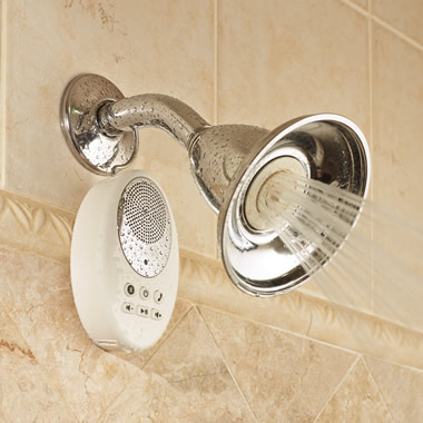 The Wireless Shower Speakerphone.