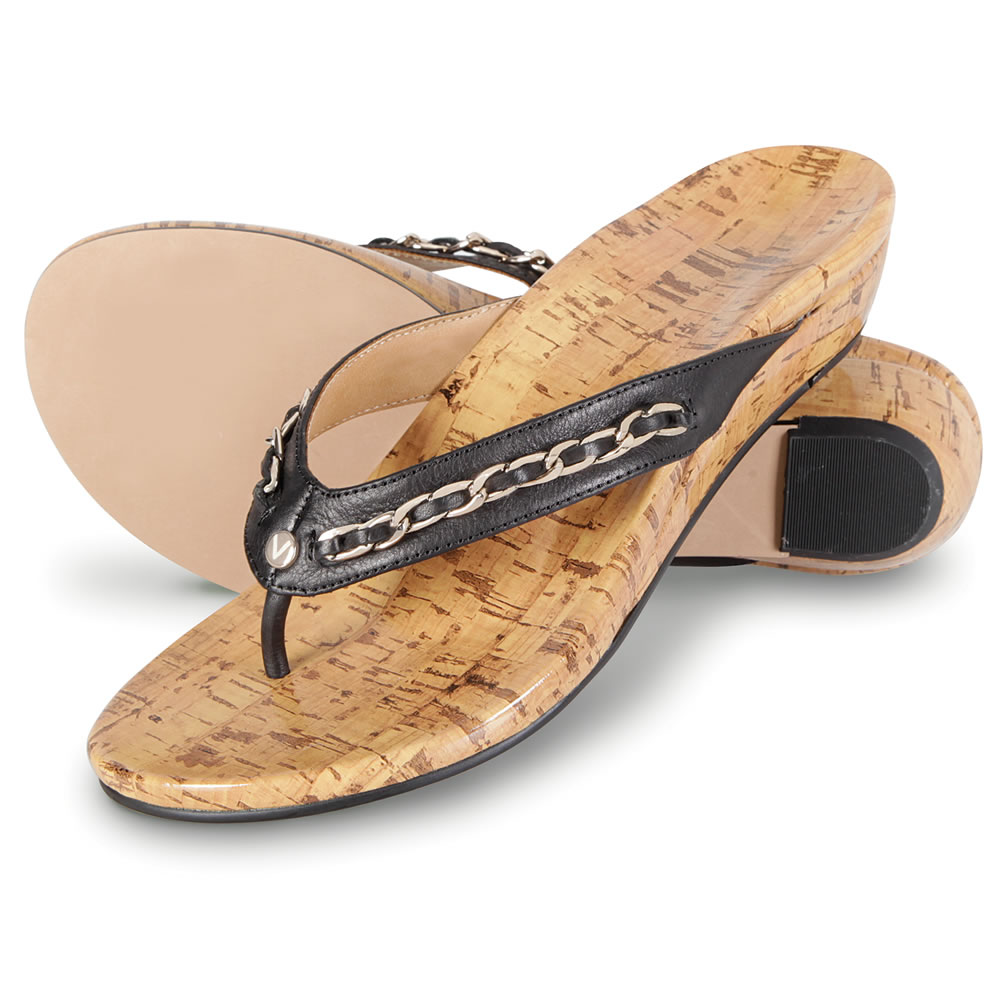 The Lady's Plantar Fasciitis Cork Wedge Sandals2